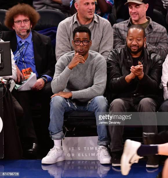 Chris Rock attends the Utah Jazz Vs New York Knicks game at Madison Square Garden on November 15 2017 in New York City