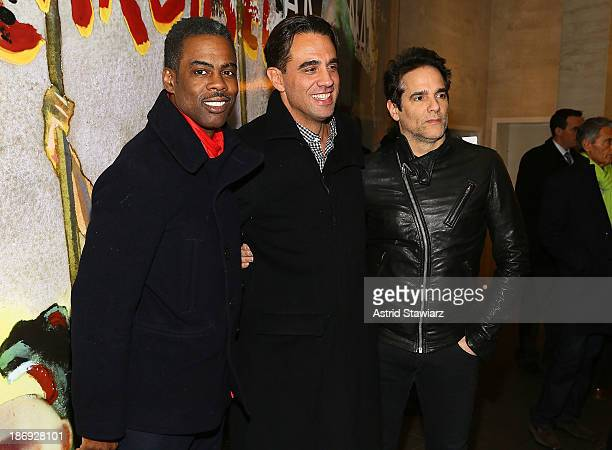 Chris Rock Bobby Cannavale and Yul Vazquez attends the 'Domesticated' Opening Night at Mitzi E Newhouse Theater on November 4 2013 in New York City