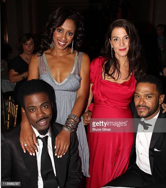 Chris Rock Malaak ComptonRock Annabella Sciorra and Maxwell attend the party following the 65th Annual Tony Awards at The Plaza Hotel on June 12 2011...