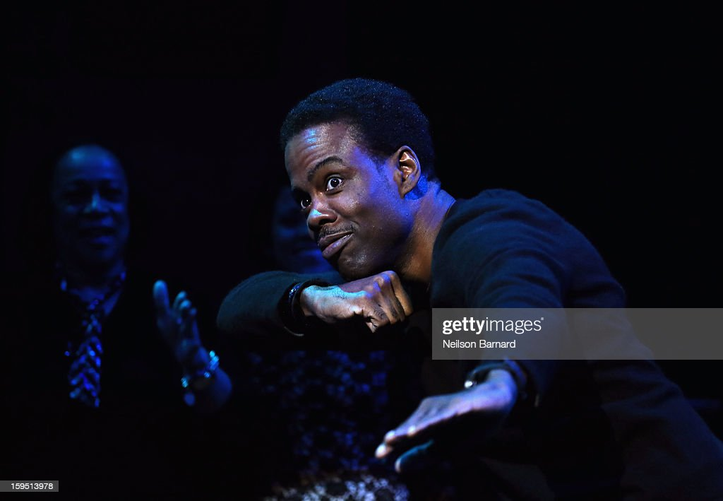 <a gi-track='captionPersonalityLinkClicked' href=/galleries/search?phrase=Chris+Rock&family=editorial&specificpeople=202982 ng-click='$event.stopPropagation()'>Chris Rock</a> onstage at LAByrinth Theater Company Celebrity Charades 2013 Benefit Gala at Capitale on January 14, 2013 in New York City.