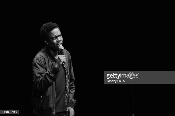 Chris Rock preforms at Hard Rock Live at Seminole Hard Rock Hotel Casino Hollywood on March 29 2017 in Hollywood Florida