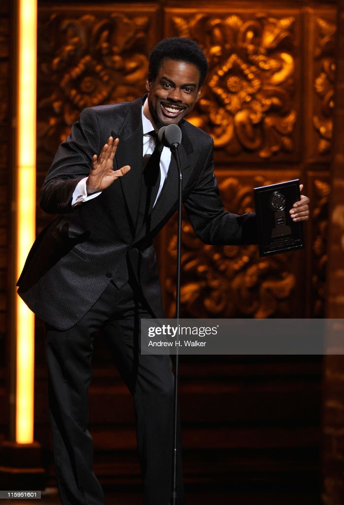 <a gi-track='captionPersonalityLinkClicked' href=/galleries/search?phrase=Chris+Rock&family=editorial&specificpeople=202982 ng-click='$event.stopPropagation()'>Chris Rock</a> speaks on stage during the 65th Annual Tony Awards at the Beacon Theatre on June 12, 2011 in New York City.