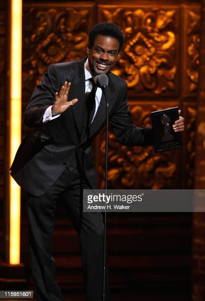 Chris Rock speaks on stage during the 65th Annual Tony Awards at the Beacon Theatre on June 12 2011 in New York City