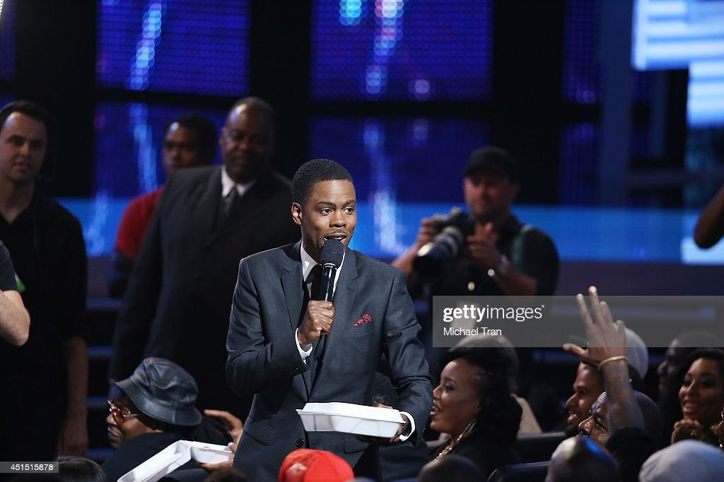 Chris Rock speaks onstage during the 'BET AWARDS' 14 held at Nokia Theater L.A. LIVE on June 29, 2014 in Los Angeles, California.