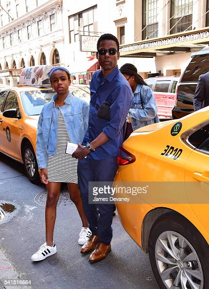 Chris Rock spends Father's Day with daughters Zahra Savannah Rock and Lola Simone Rock at the Broadway musical Hamilton at Richard Rodgers Theatre on...