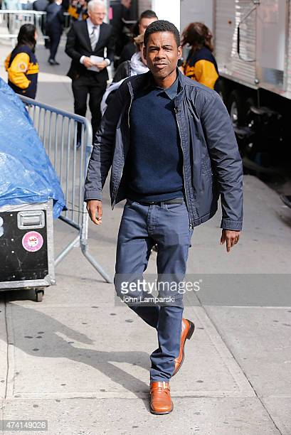 Chris Rock visits 'Late Show With David Letterman' at Ed Sullivan Theater on May 20 2015 in New York City