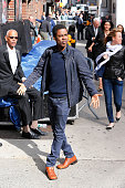 Chris Rock visits 'Late Show With David Letterman' May 20 2015 at Ed Sullivan Theater on May 20 2015 in New York City