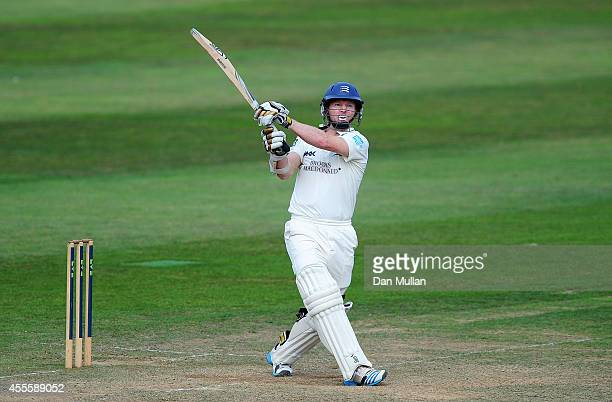 Chris Rodgers of Middlesex bats during day three of the LV County Championship Division One match between Somerset and Middlesex at The County Ground...
