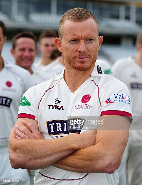 Chris Rogers Four Day Captain of Somerset looks on during the Somerset CCC Photocall at the County Ground on April 8 2016 in Taunton England