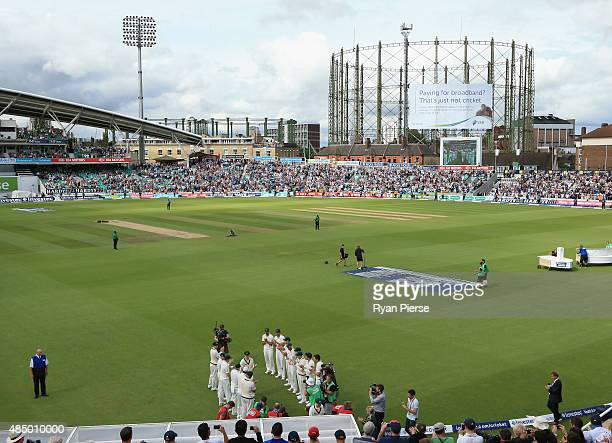 Chris Rogers of Australia walks from the ground after his last test match during day four of the 5th Investec Ashes Test match between England and...