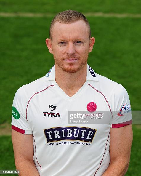 Chris Rogers of Somerset during the Somerset CCC Photocall at the County Ground on April 8 2016 in Taunton England