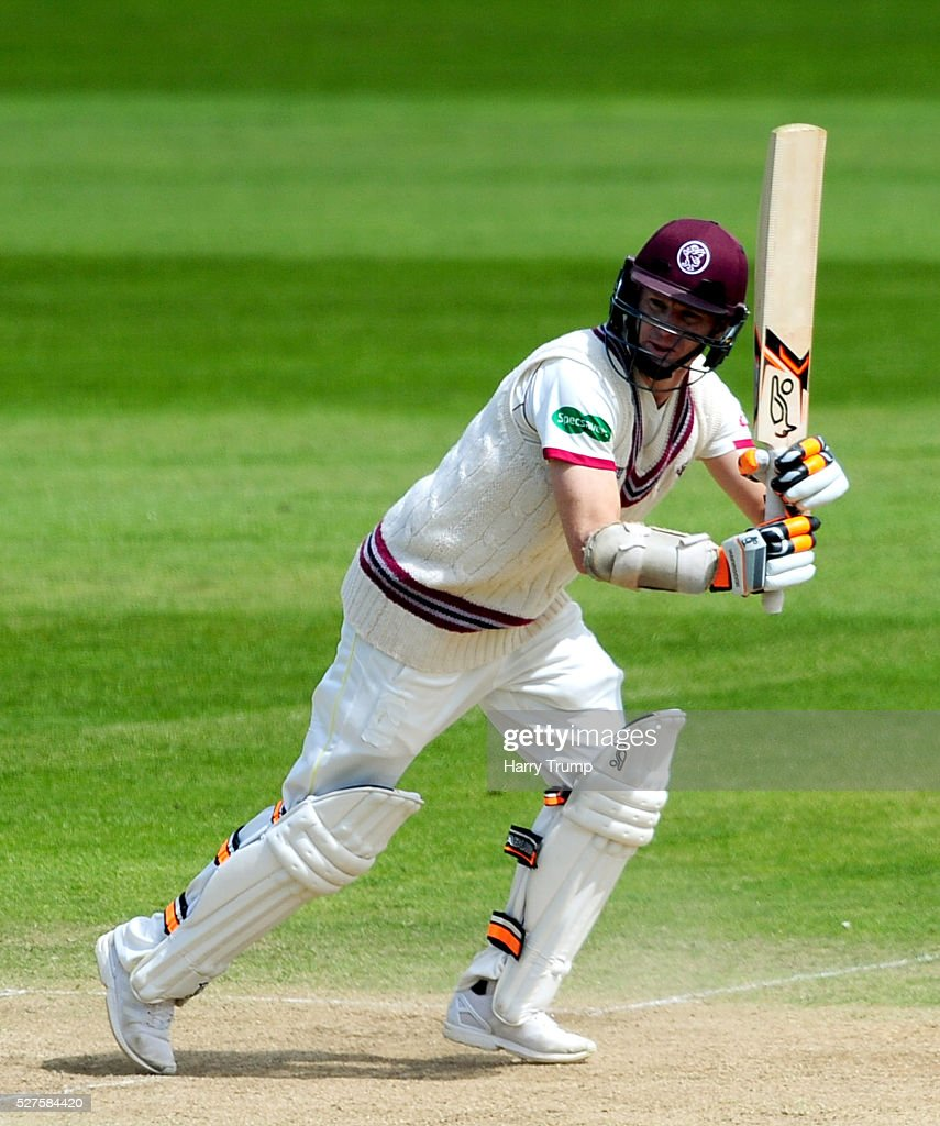 <a gi-track='captionPersonalityLinkClicked' href=/galleries/search?phrase=Chris+Rogers&family=editorial&specificpeople=178255 ng-click='$event.stopPropagation()'>Chris Rogers</a> of Somerset flicks the ball during Day Three of the Specsavers County Championship Division One match between Someret and Lancashire at the County Ground on May 03, 2016 in Somerset, United Kingdom.
