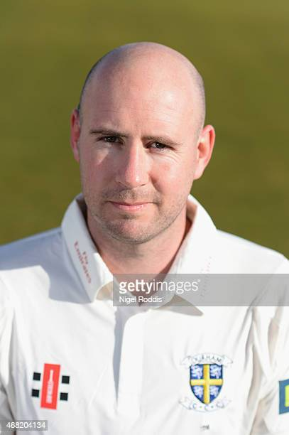 Chris Rushworth of Durham poses for a portrait during the Durham CCC Photocall at The Riverside on March 31 2015 in ChesterleStreet England