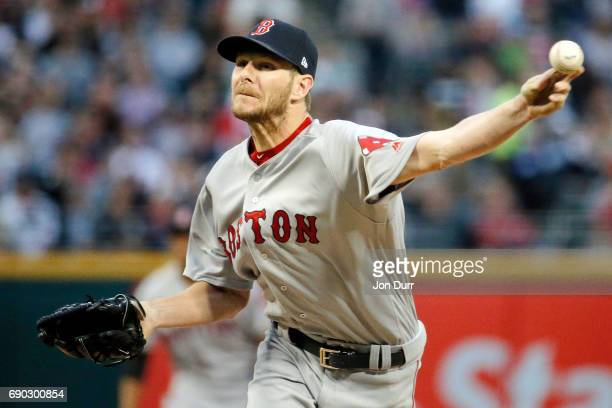 Chris Sale of the Boston Red Sox pitches against the Chicago White Sox during the second inning at Guaranteed Rate Field on May 30 2017 in Chicago...