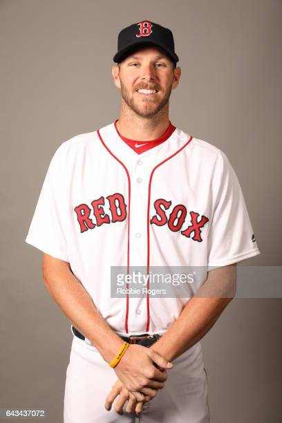 Chris Sale of the Boston Red Sox poses during Photo Day on Sunday February 19 2017 at JetBlue Park in Fort Myers Florida