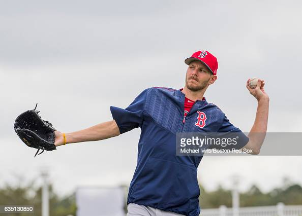 Chris Sale of the Boston Red Sox works out on February 13 2017 at jetBlue Park in Fort Myers Florida Chris Sale