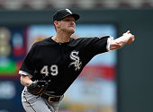 Chris Sale of the Chicago White Sox delivers a pitch against the Minnesota Twins during the first inning of the game on June 24 2015 at Target Field...