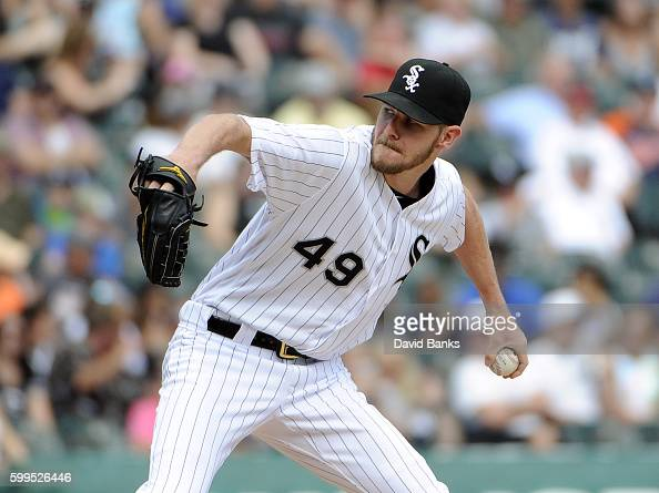 Chris Sale of the Chicago White Sox pitches against the Detroit Tigers during the first inning on September 5 2016 at U S Cellular Field in Chicago...