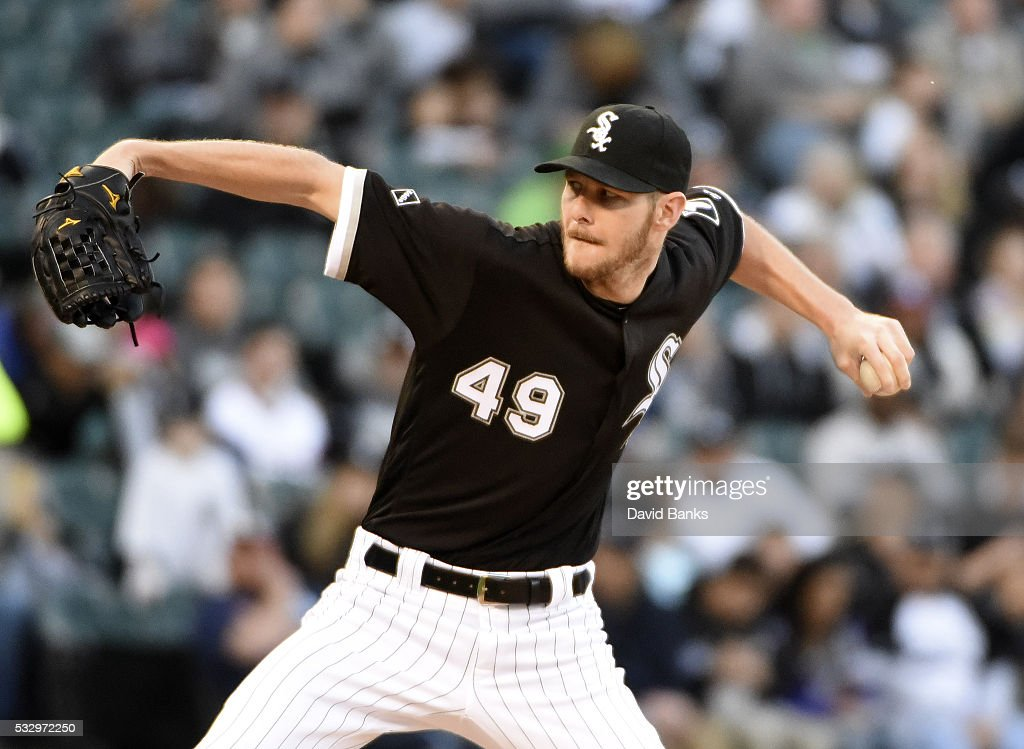 Chris Sale of the Chicago White Sox pitches against the Houston Astros during the first inning on May 19 2016 at U S Cellular Field in Chicago...