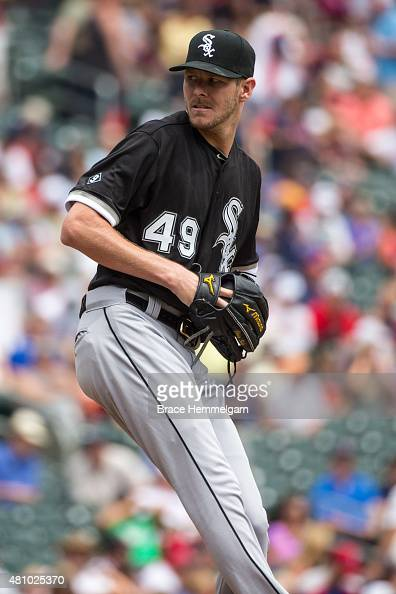 Chris Sale of the Chicago White Sox pitches against the Minnesota Twins on June 24 2015 at Target Field in Minneapolis Minnesota The Twins defeated...