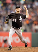 Chris Sale of the Chicago White Sox pitches against the San Francisco Giants at ATT Park on August 12 2014 in San Francisco California