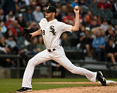 Chris Sale of the Chicago White Sox pitches against the Texas Rangers during the third inning on June 19 2015 at U S Cellular Field in Chicago...