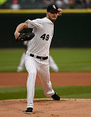Chris Sale of the Chicago White Sox pitches against the Texas Rangers on June 19 2015 at U S Cellular Field in Chicago Illinois