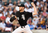 Chris Sale of the Chicago White Sox pitches against the Toronto Blue Jays in the first inning of play at US Cellular Field on July 6 2015 in Chicago...