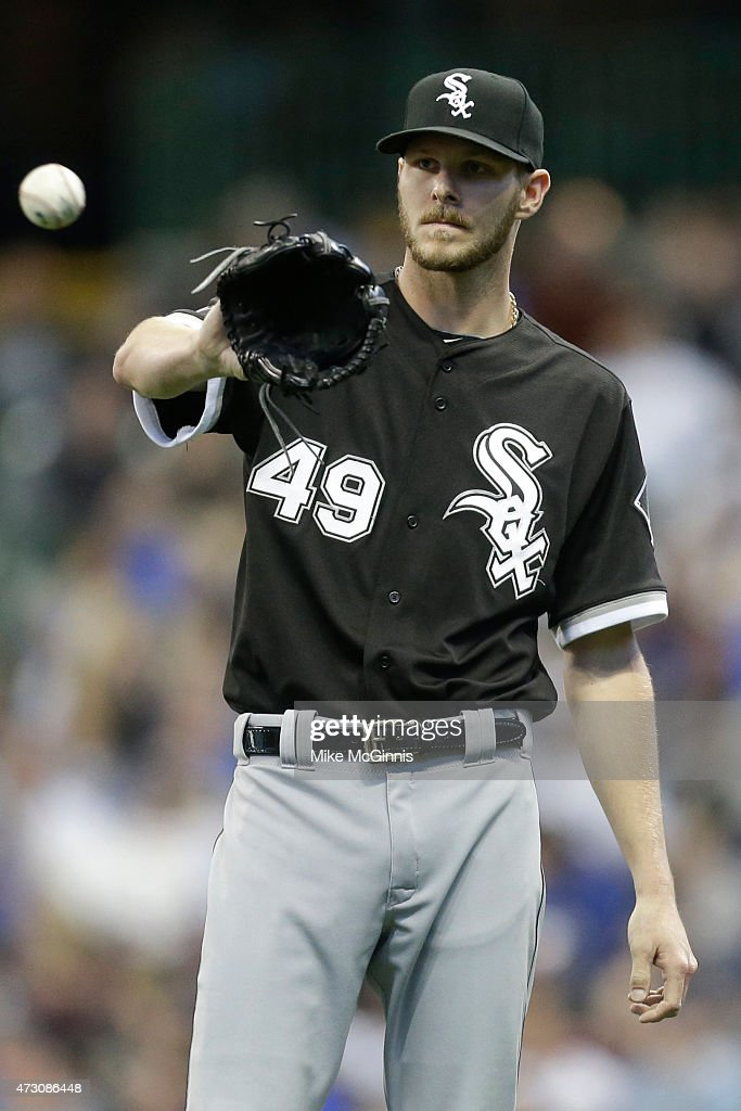 Chris Sale of the Chicago White Sox pitches during the first inning during the interleague game against the Milwaukee Brewers at Miller Park on May...