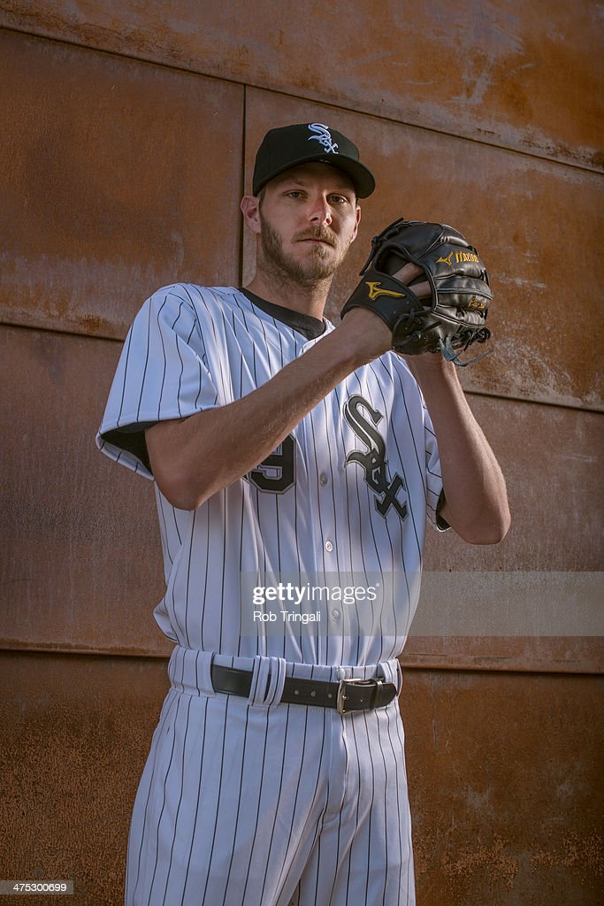 <a gi-track='captionPersonalityLinkClicked' href=/galleries/search?phrase=Chris+Sale&family=editorial&specificpeople=7132181 ng-click='$event.stopPropagation()'>Chris Sale</a> #49 of the Chicago White Sox poses for a portrait on photo day at the Glendale Sports Complex on February 22, 2014 in Glendale, Arizona.