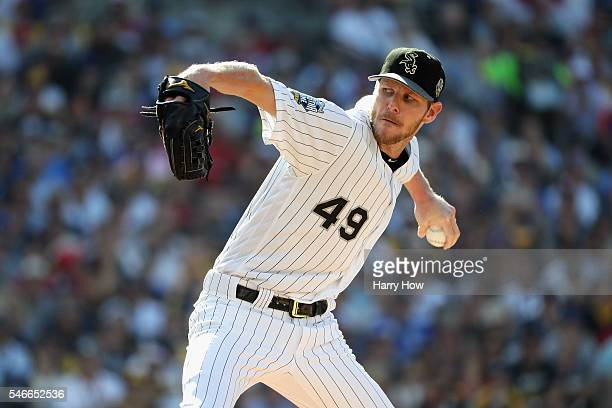 Chris Sale of the Chicago White Sox throws a pitch during the 87th Annual MLB AllStar Game at PETCO Park on July 12 2016 in San Diego California