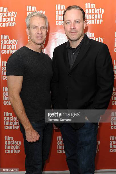 Chris Sanders and Kirk De Micco attend 'The Croods' screening at The Film Society of Lincoln Center Walter Reade Theatre on March 13 2013 in New York...