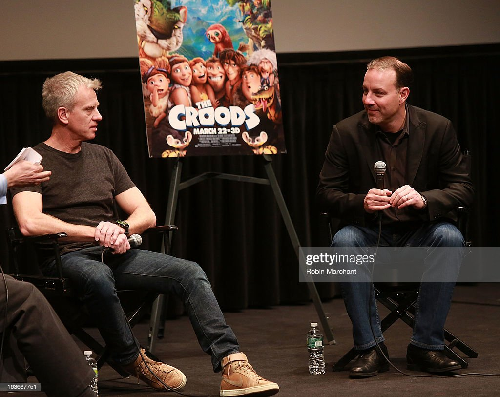 Chris Sanders (L) and Kirk De Micco attend 'The Croods' screening at The Film Society of Lincoln Center, Walter Reade Theatre on March 13, 2013 in New York City.