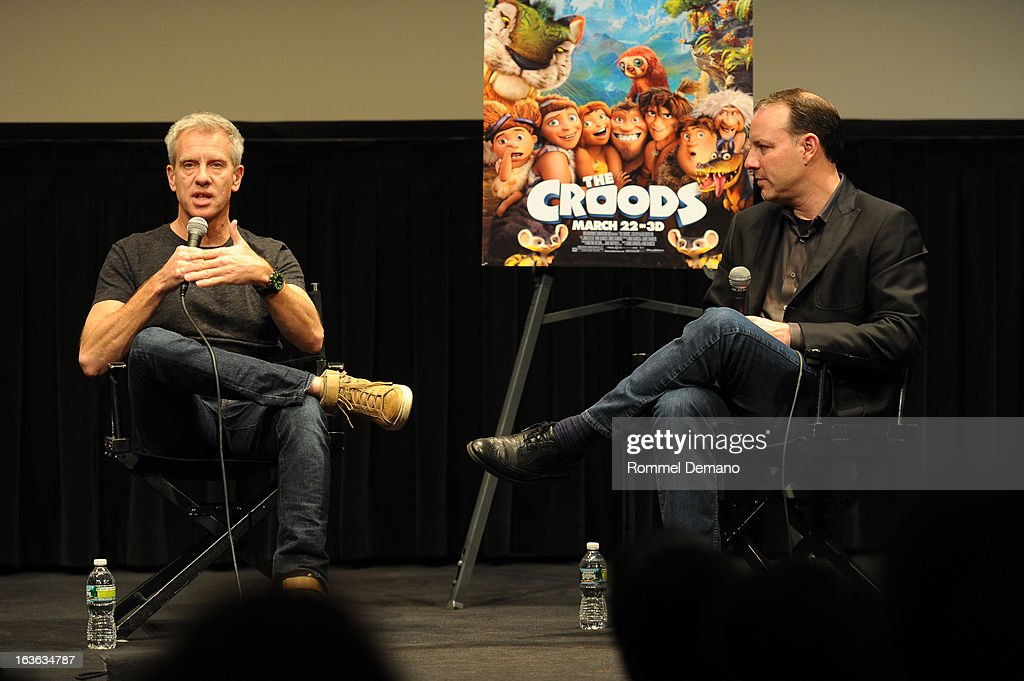 Chris Sanders and Kirk De Micco attends 'The Croods' screening at The Film Society of Lincoln Center, Walter Reade Theatre on March 13, 2013 in New York City.