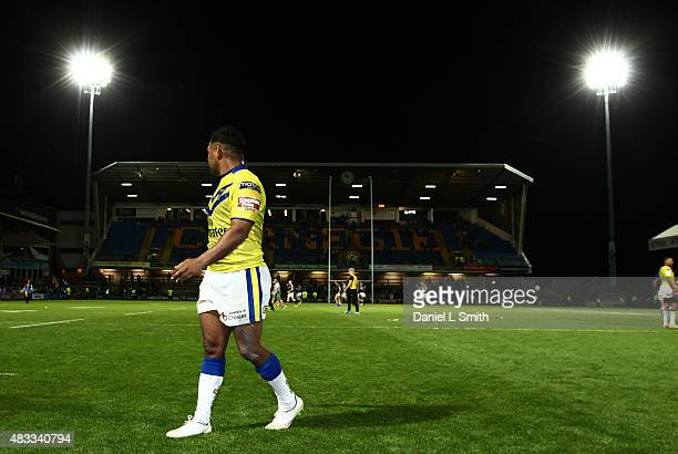 Chris Sandow of Warrington Wolves after his debut match with the Wolves in the Round 1 match of the First Utility Super League Super 8s between Leeds...