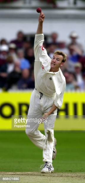 Chris Schofield of England bowling during the Second Cornhill Test match between England and Zimbabwe at Trent Bridge in Nottingham England on June 4...