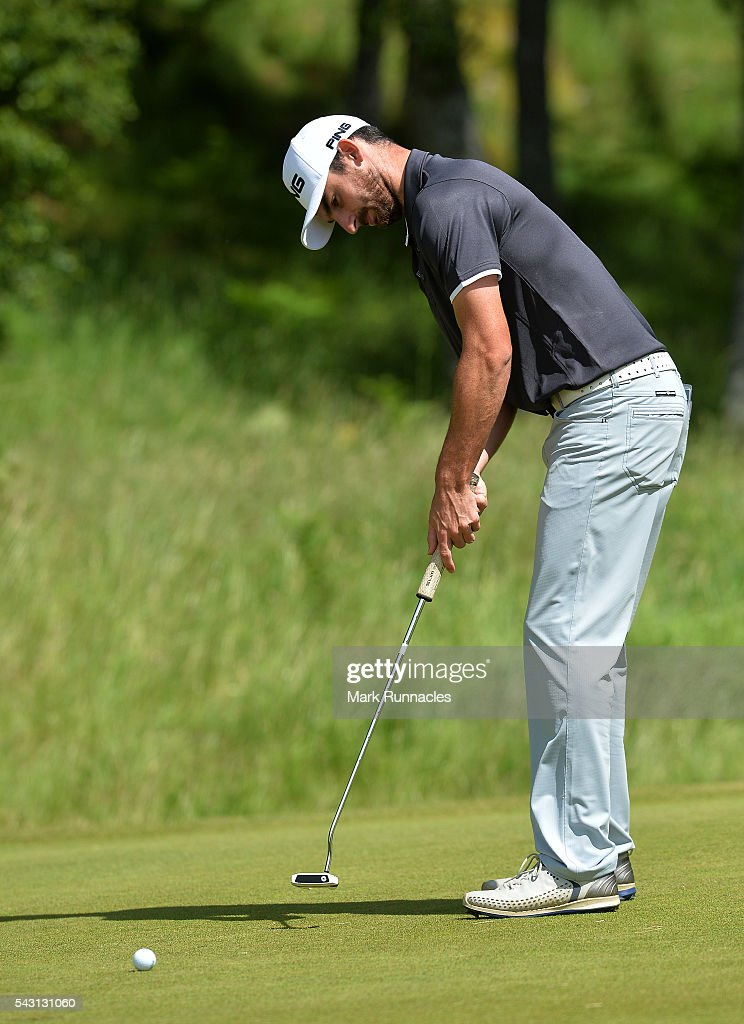 Chris Selfridge of Northern Ireland putting at the 3rd during the final day of the 2016 SSE Scottish Hydro Challenge at the MacDonald Spey Valley Golf Course on June 26, 2016 in Aviemore, Scotland.
