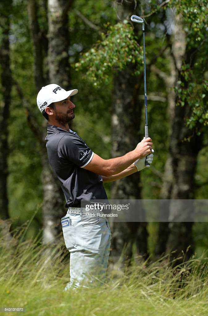 Chris Selfridge of Northern Ireland Tee shot at the 4th during the final day of the 2016 SSE Scottish Hydro Challenge at the MacDonald Spey Valley Golf Course on June 26, 2016 in Aviemore, Scotland.