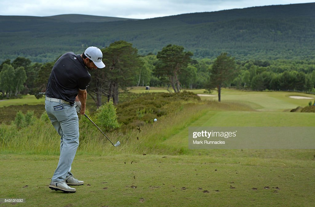 Chris Selfridge of Northern Ireland Tee shot at the 9th during the final day of the 2016 SSE Scottish Hydro Challenge at the MacDonald Spey Valley Golf Course on June 26, 2016 in Aviemore, Scotland.