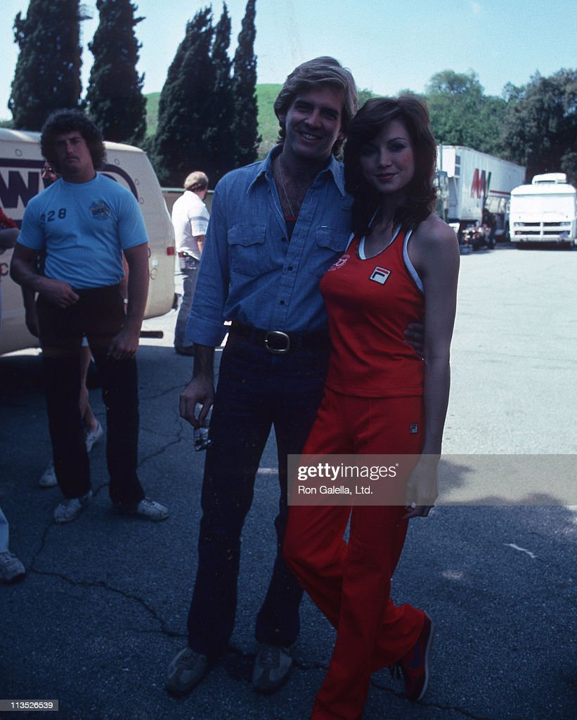 Chris Skinner and <a gi-track='captionPersonalityLinkClicked' href=/galleries/search?phrase=Victoria+Principal&family=editorial&specificpeople=209035 ng-click='$event.stopPropagation()'>Victoria Principal</a> during 'Celebrity Challenge of the Sexes' at Mt. Sac, Stadium Pamona in Los Angeles, California, United States.