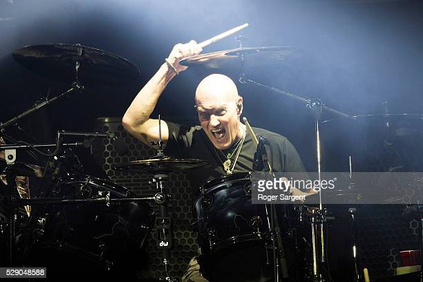 Chris Slade of AC/DC performs on the opening night of Rock or Bust Tour at the Passeio Maritimo De Alges on May 7 2016 in Lisbon Portugal