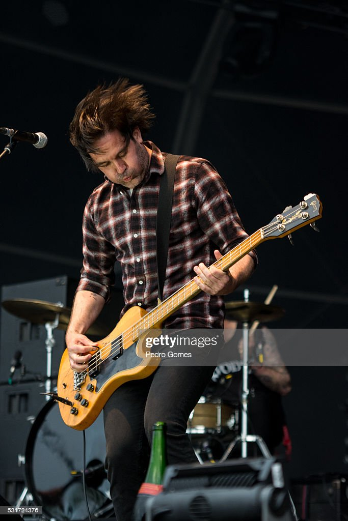 Chris Slorach of Metz performing on Vodafone stage at Rock in Rio on May 27, 2016 in Lisbon, Portugal.