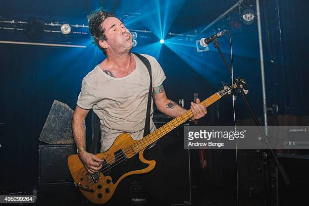 Chris Slorach of Metz performs on stage at Scala on November 1 2015 in London England