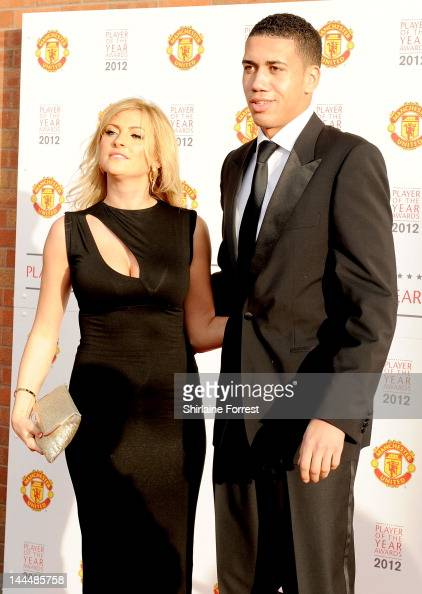 Chris Smalling and girlfriend Sam Cooke attend the Manchester United Player Of The Year Awards at Old Trafford on May 14 2012 in Manchester England
