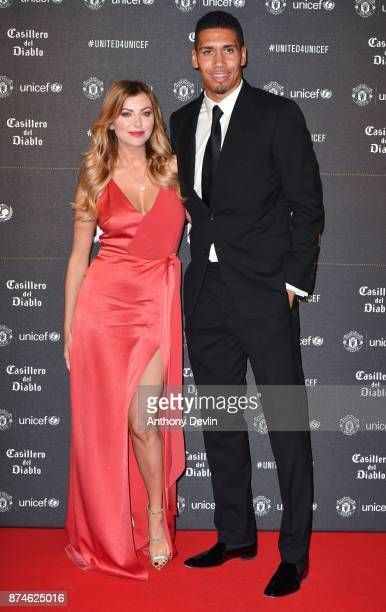 Chris Smalling and Sam Smalling attend the United for Unicef Gala Dinner at Old Trafford on November 15 2017 in Manchester England