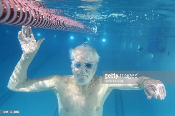 TORONTO ON FEBRUARY 9 Chris Smith swims freestyle front crawl he holds three provincial freestyle records in the 8084 age group in the 200 800 and...