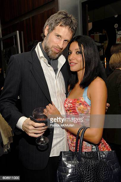 Chris Snyder and Margot Arguello attend LYDIA HEARST for PUMA Launch Party at Thom Bar on November 27 2007 in New York City