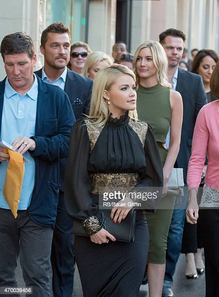 Chris Soules Witney Carson and Whitney Bischoff are seen in Hollywood on April 16 2015 in Los Angeles California
