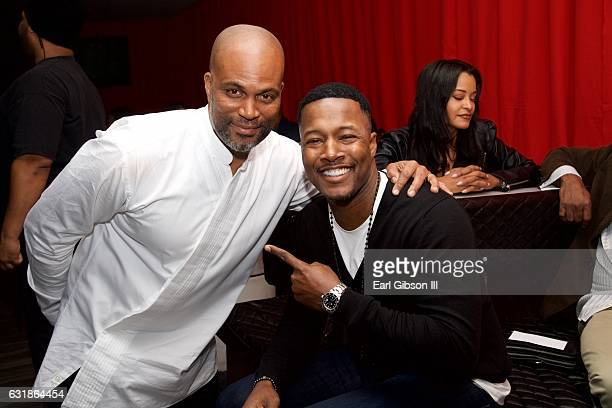 Chris Spencer and Flex Alexander attend the birthday celebration for Chris Spencer at The Savoy Entertainment Center on January 16 2017 in Inglewood...