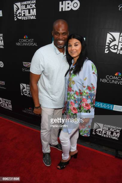 Chris Spencer and Vanessa Spencer attend 2017 American Black Film Festival 'Girls Trip' Red Carpet Screening at Olympia Theater At Gusman Hall on...
